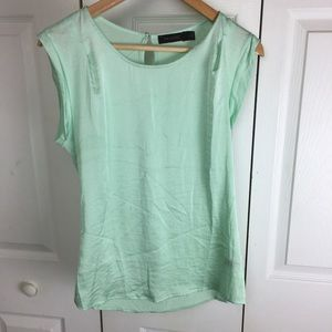 The Limited Mint Green Short Cap Sleeve Blouse